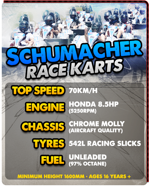 Friday night challenge Schumacher karts