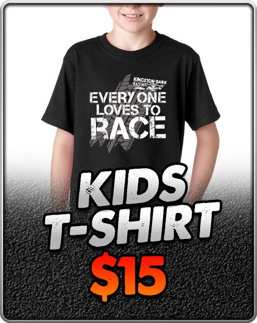 Kingston-Park-Raceway-Go-Karting-Kids-T-Shirt