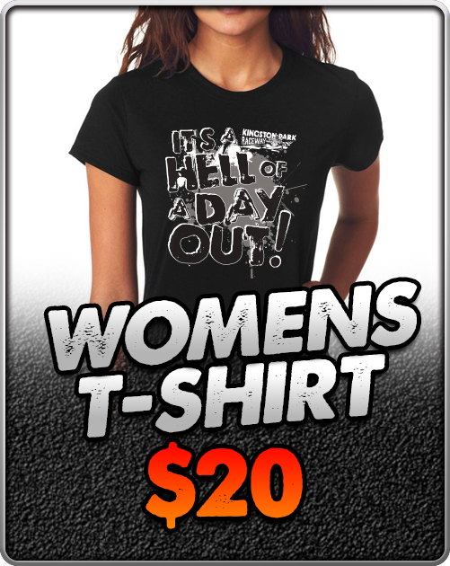 Kingston-Park-Raceway-Go-Karting-Womens-T-Shirt