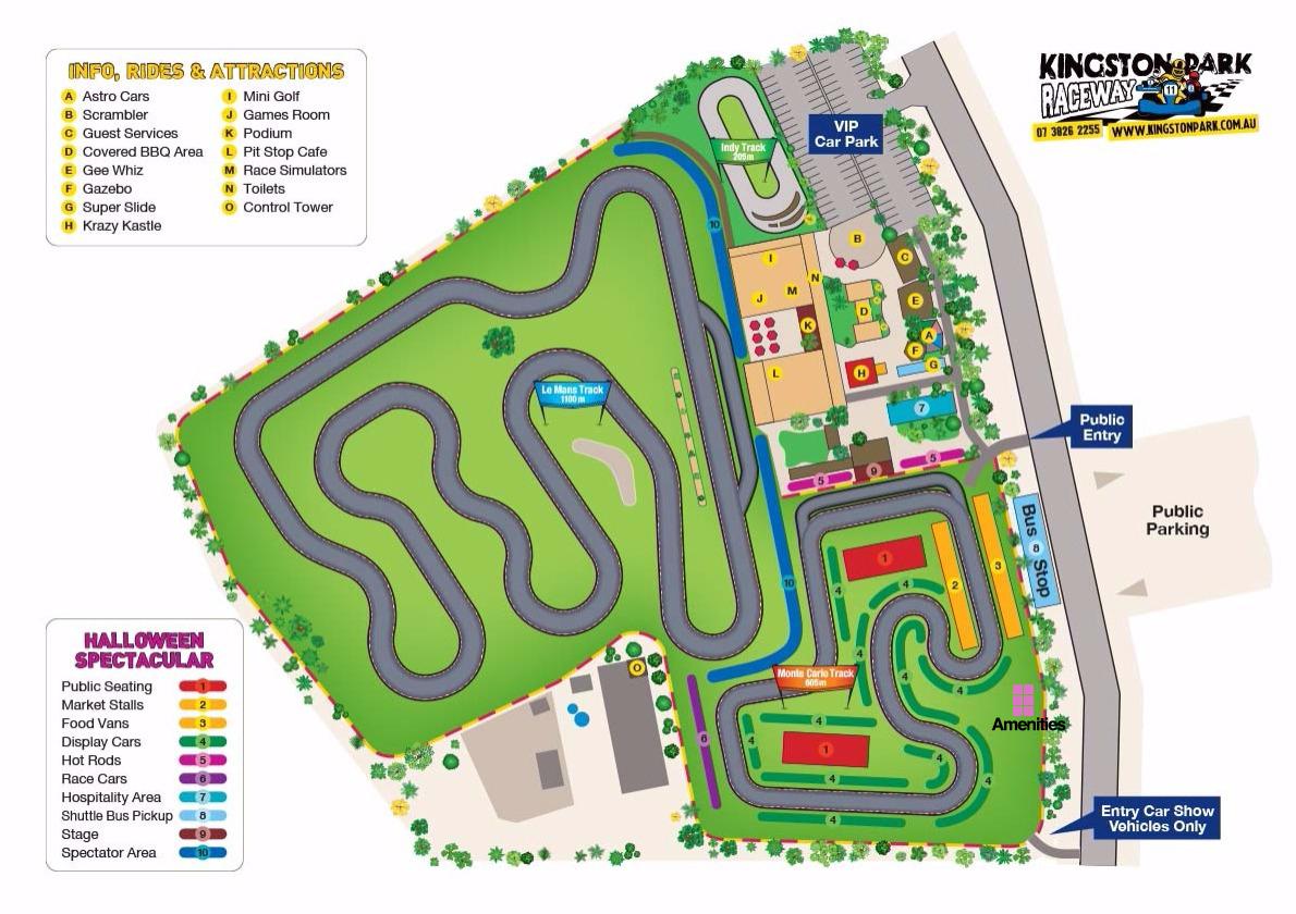 Halloween Car Show | Event map | Kingston Park Raceway