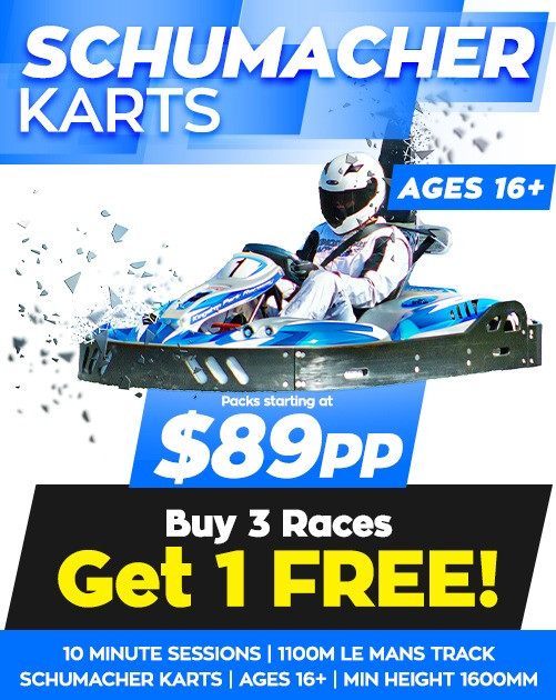 Kingston-Park-Raceway-Schumacher-Go-Karts-School-Holiday-Offer